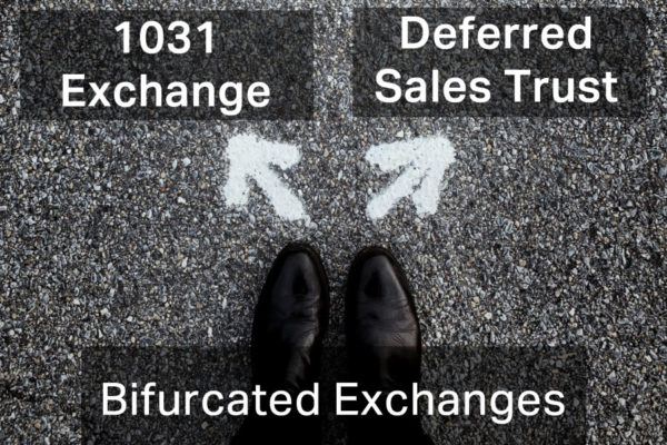 bifurcated exchanges between 1031 and deferred sales trust